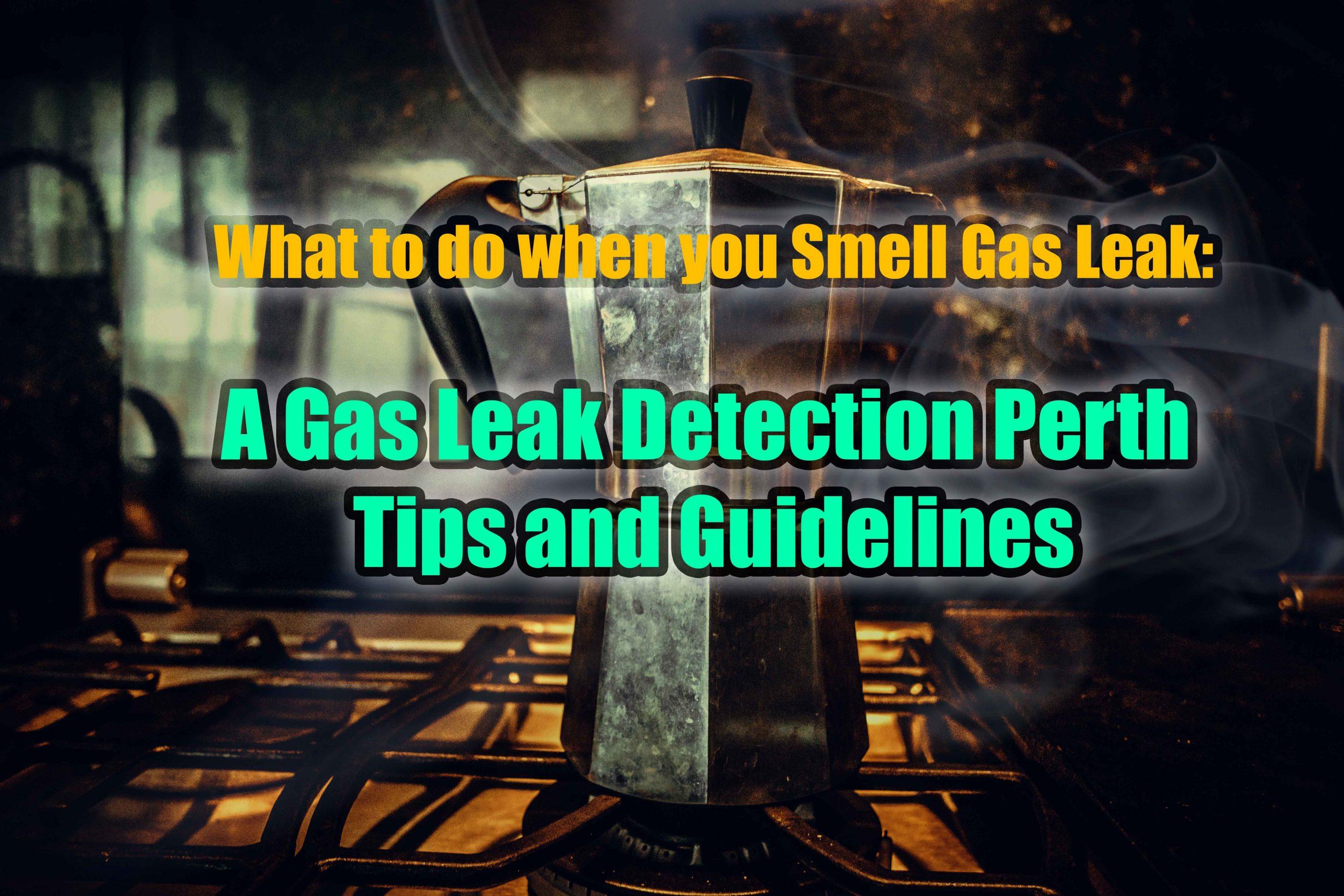 Gas Leak Detection Perth